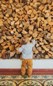 Firewood with Child - M and A Tree Services
